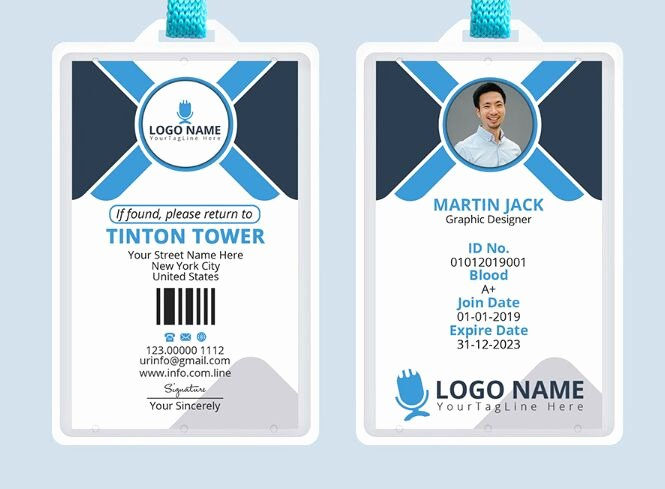 Id Card Template Photoshop Beautiful Free Professional Fice Id Card Template Psd Titanui