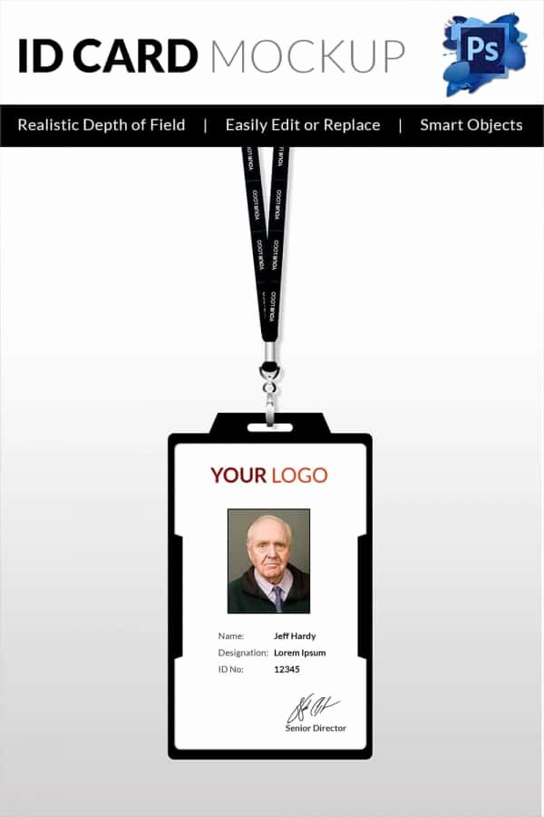 Id Card Template Photoshop Elegant 30 Blank Id Card Templates Free Word Psd Eps formats Download
