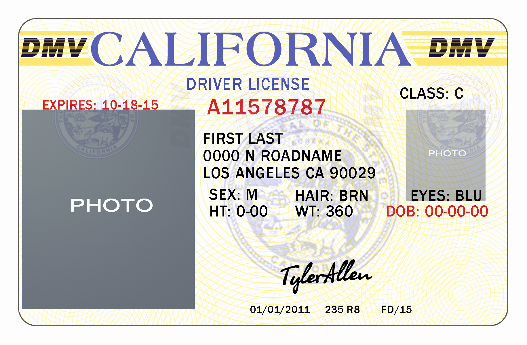 Id Card Template Photoshop Fresh 10 California Drivers Id Template Psd California Drivers License Template California
