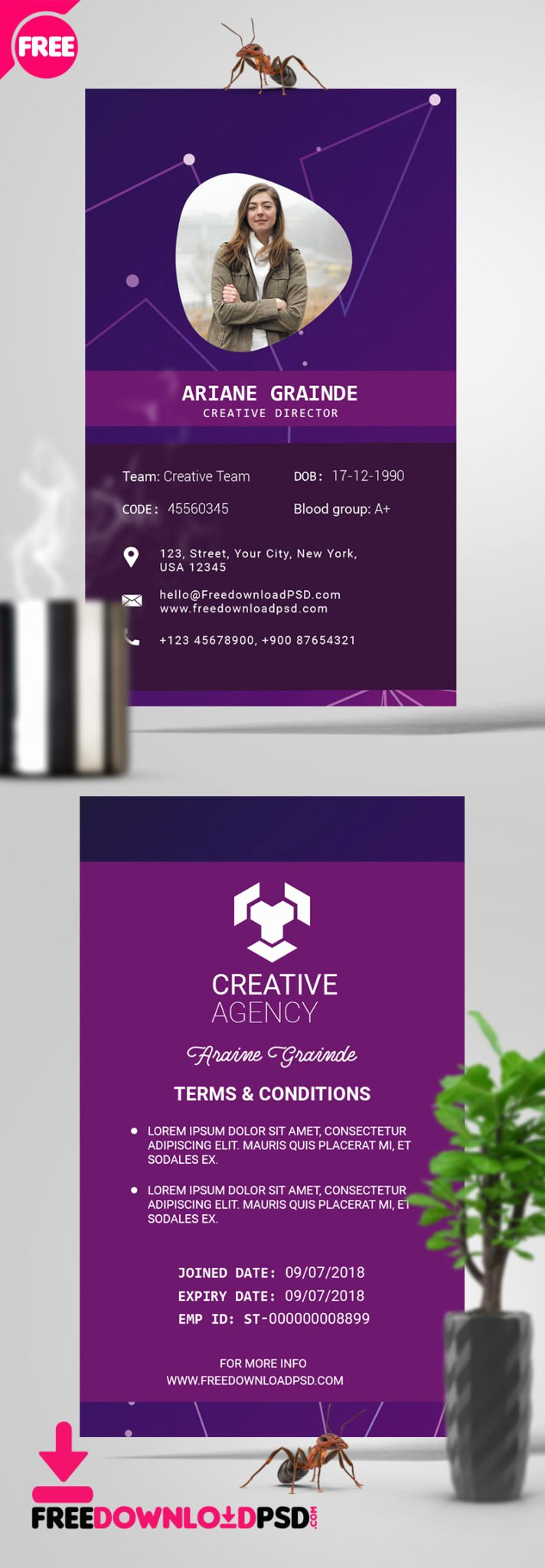 Id Card Template Photoshop Inspirational [free] Id Card Psd Template