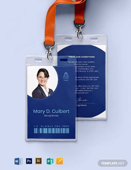 Id Card Template Photoshop Lovely 10 Editable Id Card Templates Illustrator Ms Word Pages Shop Publisher