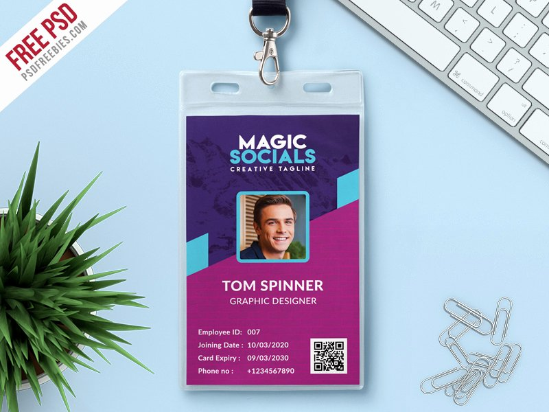 Id Card Template Photoshop Luxury Fice Identity Card Free Psd by Psd Freebies Dribbble