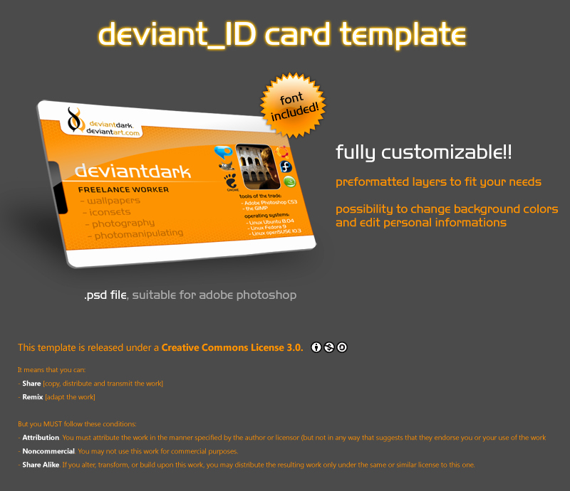 Id Card Template Photoshop Luxury Id Card Template