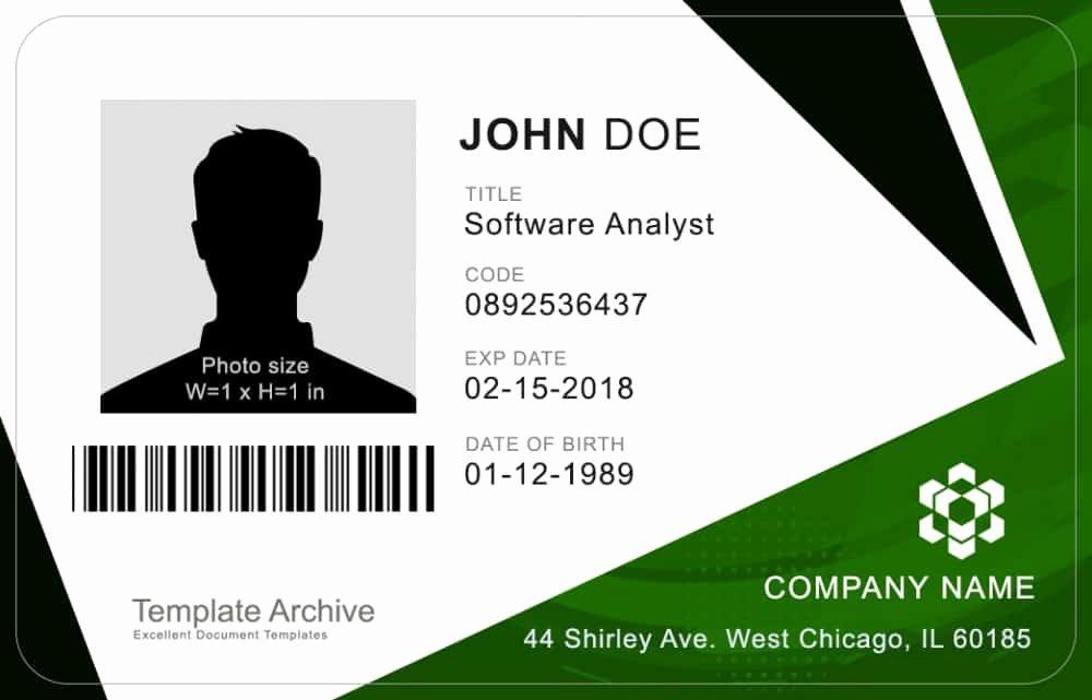 Id Card Templates Photoshop Awesome 16 Id Badge & Id Card Templates Free Template Archive