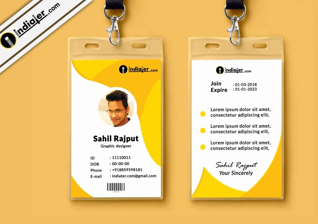 Id Card Templates Photoshop Elegant Multipurpose Corporate Fice Id Card Free Psd Template Indiater