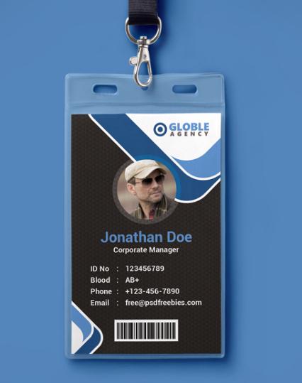 Id Card Templates Photoshop Inspirational 10 Free Employee Id Card Design [templates & Mockups]