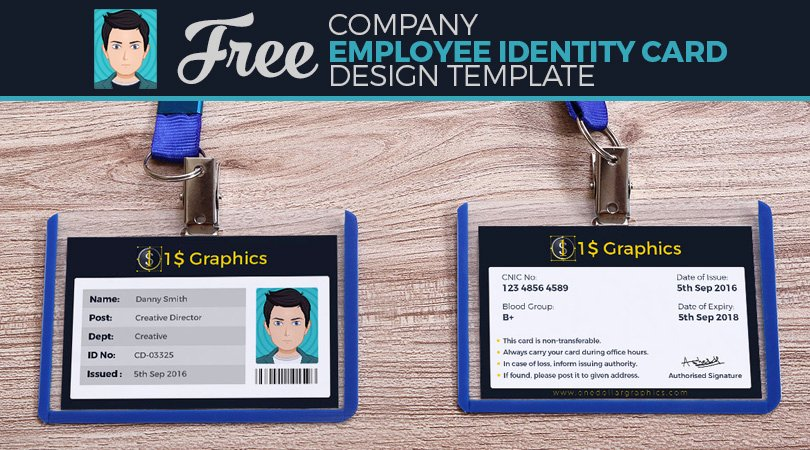Id Card Templates Photoshop Inspirational Employee Id Card Shop Template Free Download Labelslivin
