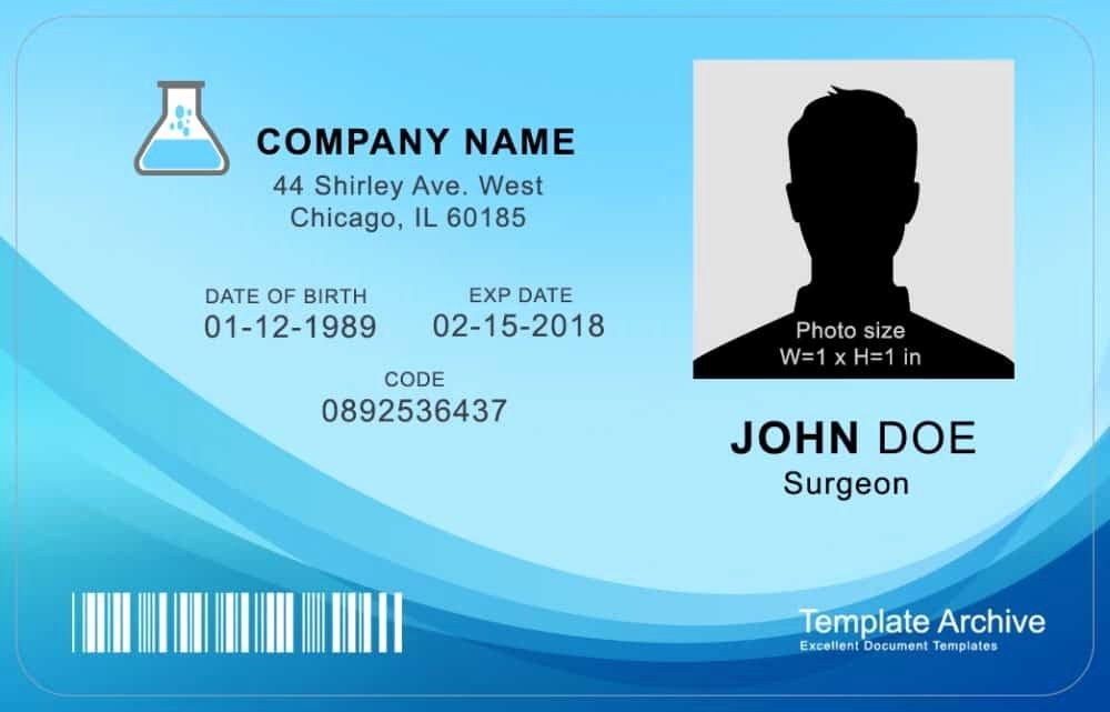 Id Card Templates Photoshop Luxury 16 Id Badge & Id Card Templates Free Template Archive