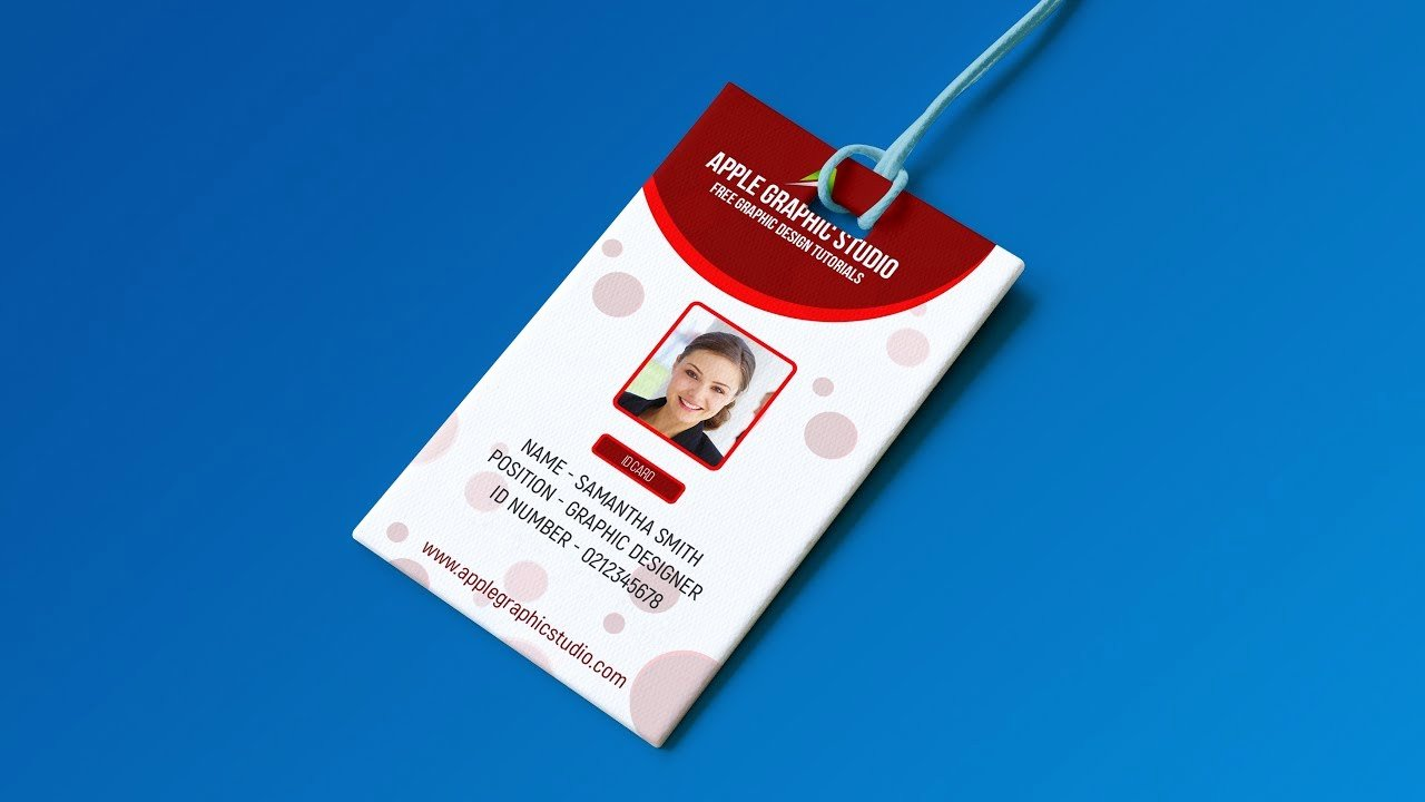 Id Card Templates Photoshop Luxury Create Professional Id Card Template Shop Tutorial