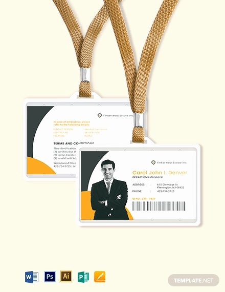 Id Card Templates Photoshop New Security Ficer Id Card Template Download 274 Id Cards In Adobe Illustrator Adobe Shop
