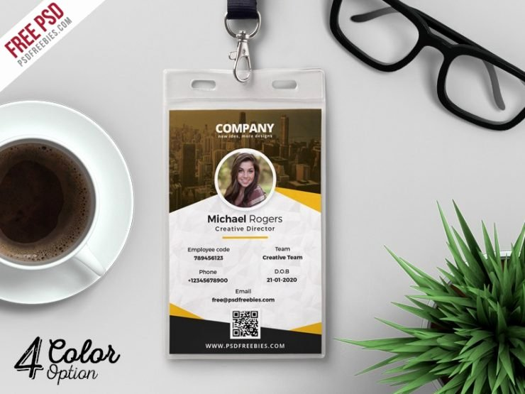 Id Card Templates Photoshop Unique Corporate Identity Card Design Template Psd Download Psd