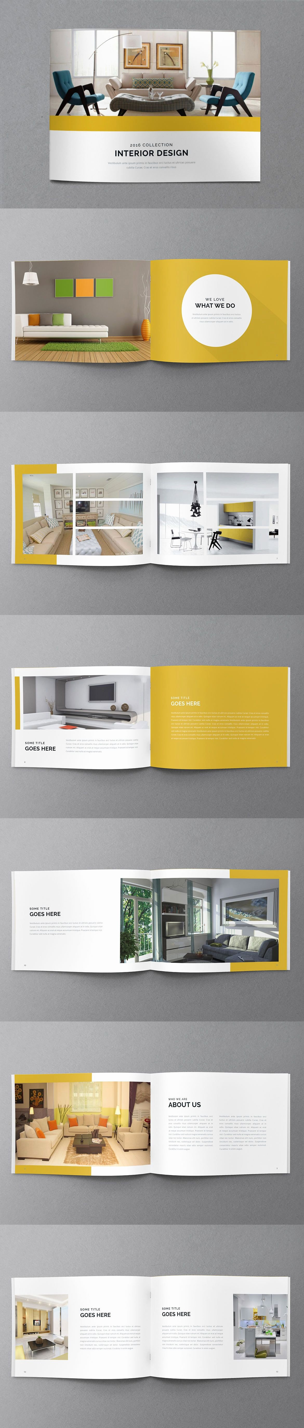 In Design Portfolio Templates Beautiful Minimal Portfolio Brochure Template Indesign Indd 14 Pages A5 Brochure Templates