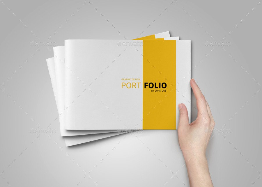 In Design Portfolio Templates Elegant A5 Portfolio Template On Behance