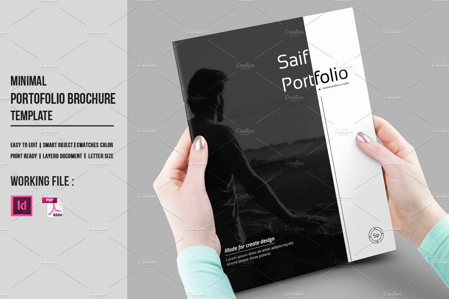 In Design Portfolio Templates Elegant Indesign Portfolio Brochure V430 Brochure Templates Creative Market