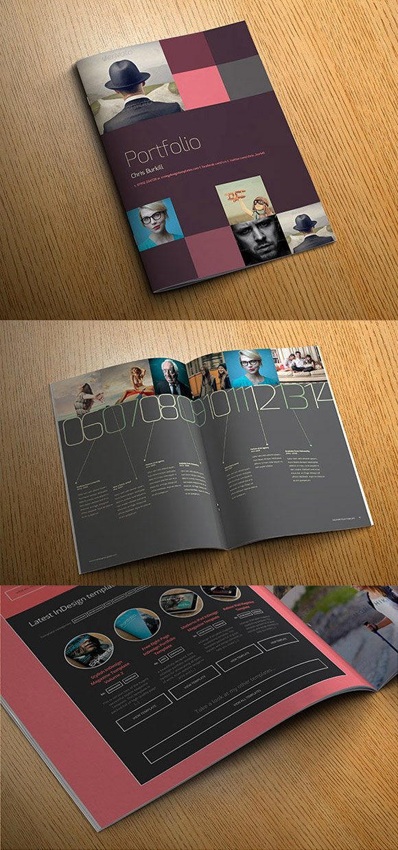 In Design Portfolio Templates Lovely Exo Indesign Template Cover Preview