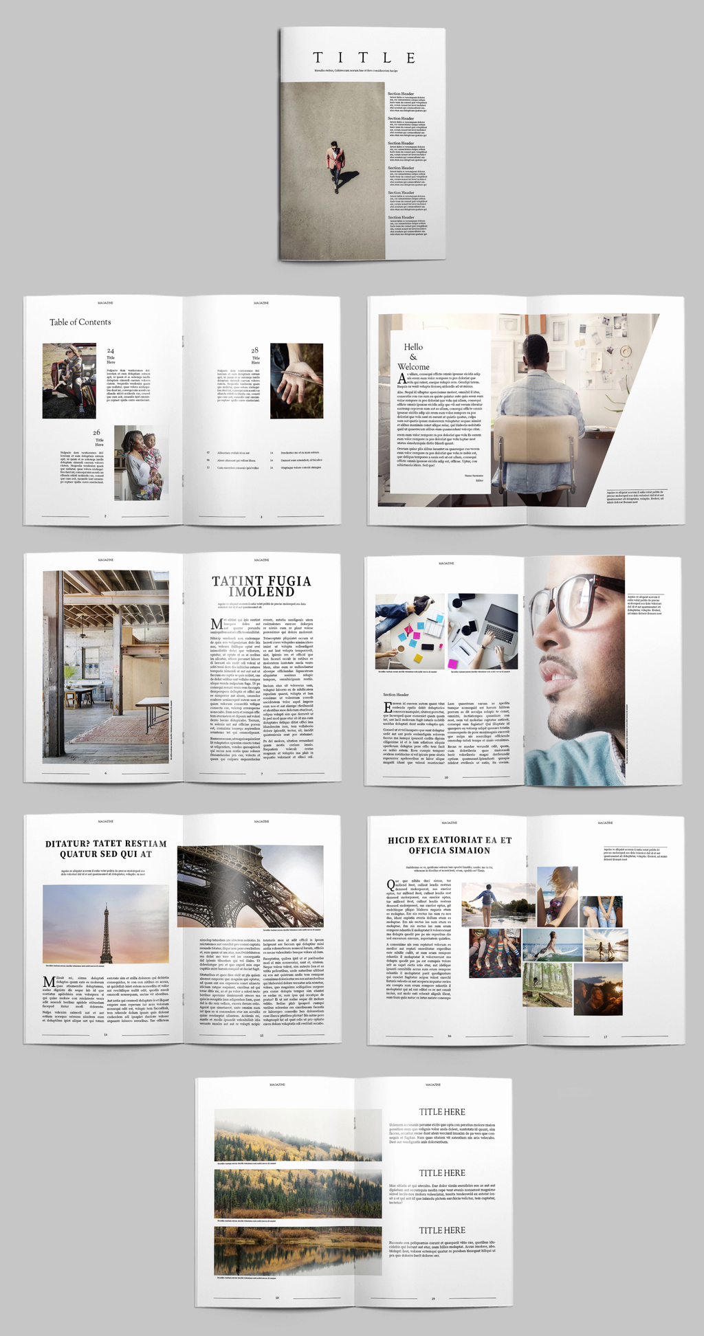 In Design Portfolio Templates New Free Indesign Magazine Templates