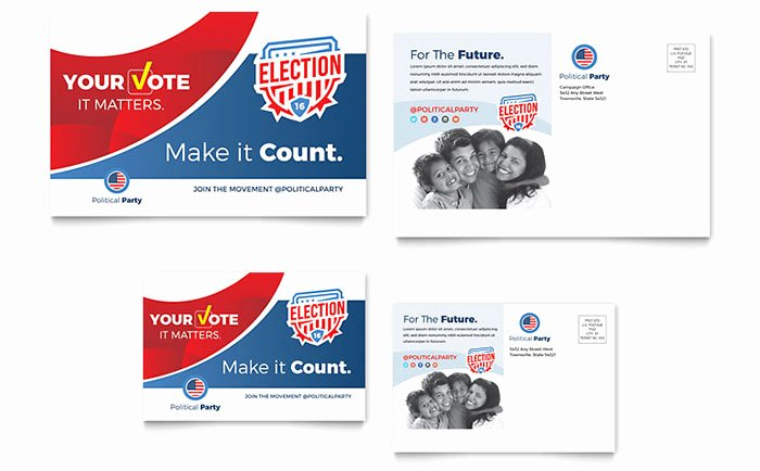 In Design Postcard Template Awesome Election Postcard Template Design
