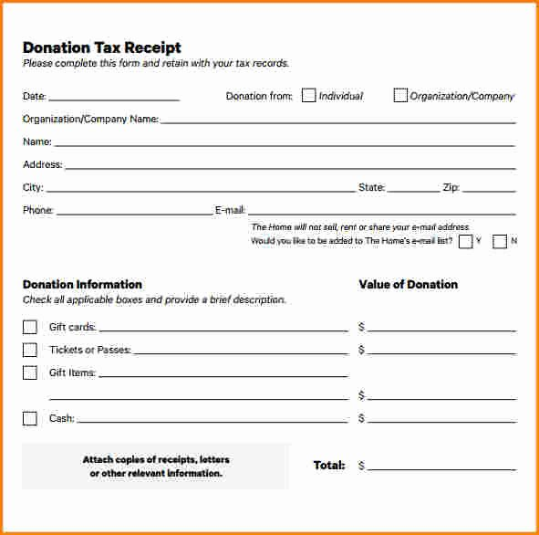 In Kind Donation Receipt Template Unique 7 In Kind Donation Receipt Template