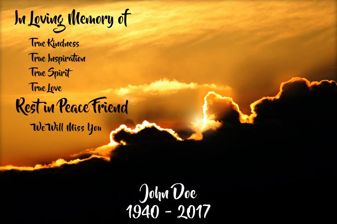 In Loving Memory Template Free Beautiful In Loving Memory Template