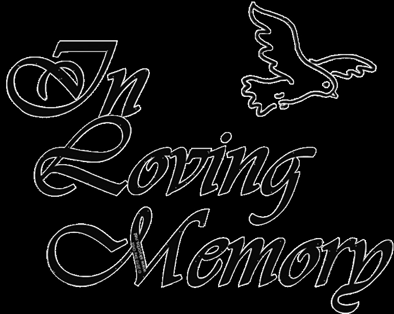 In Loving Memory Template Free Elegant In Memory Of Clipart Clipground