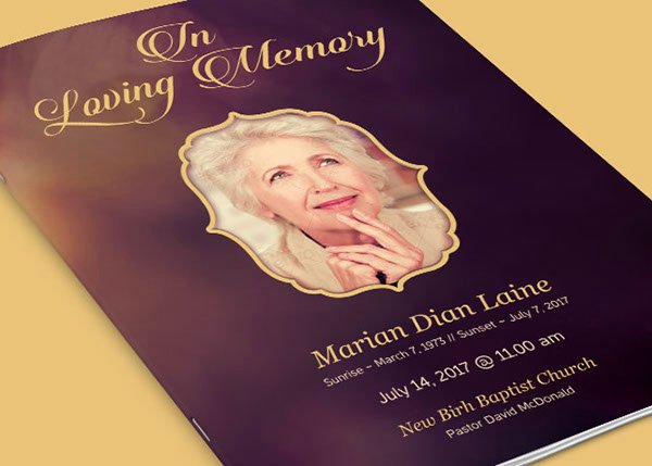 In Loving Memory Template Free Inspirational In Loving Memory Funeral Program Template On Behance