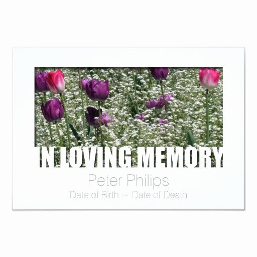 In Loving Memory Template Free Inspirational In Loving Memory Template 11 Celebration Of Life 3 5x5 Paper Invitation Card