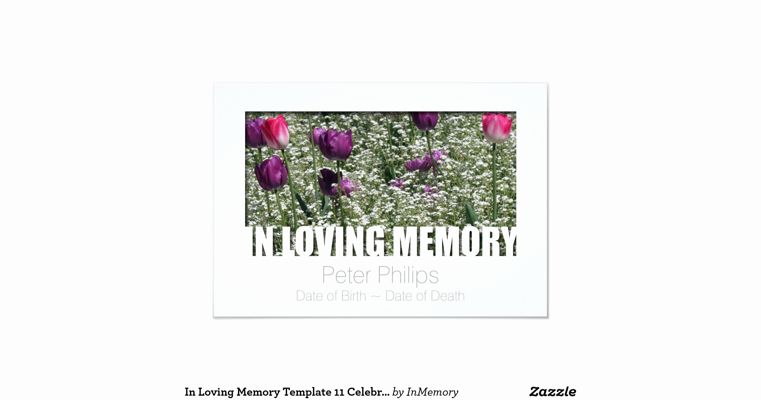 "In Loving Memory Template Free Lovely In Loving Memory Template 11 Celebration Of Life 3 5"" X 5"" Invitation Card"