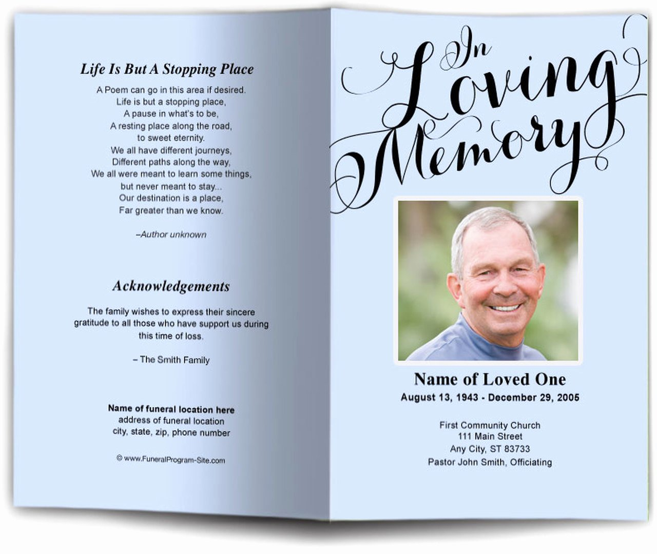 In Loving Memory Template Free Unique In Loving Memory Funeral Program Template