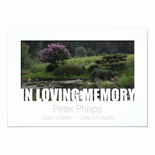 in loving memory template 6 celebration of life 3 5x5 paper invitation card