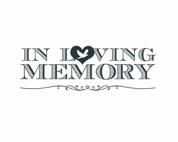 In Loving Memory Template Free Unique In Loving Memory Word Art