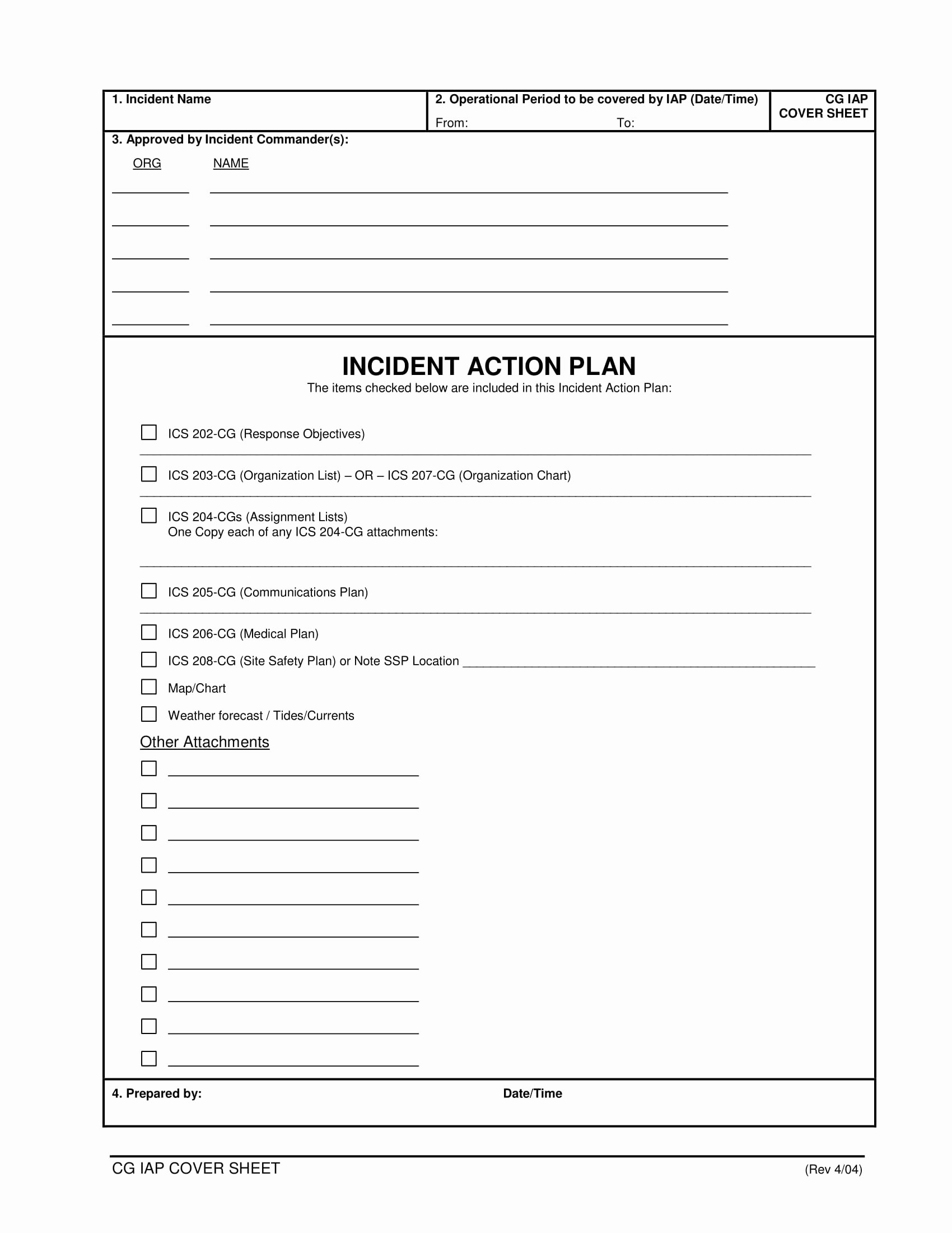 Incident Action Plan Example Fresh 10 Incident Action Plan Examples Doc Pdf