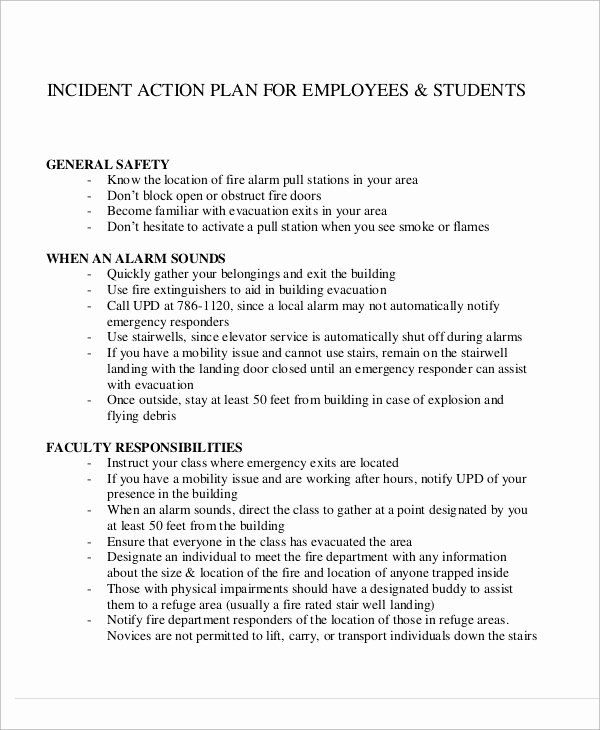Incident Action Plan Example Lovely Sample Incident Action Plan 10 Examples In Word Pdf