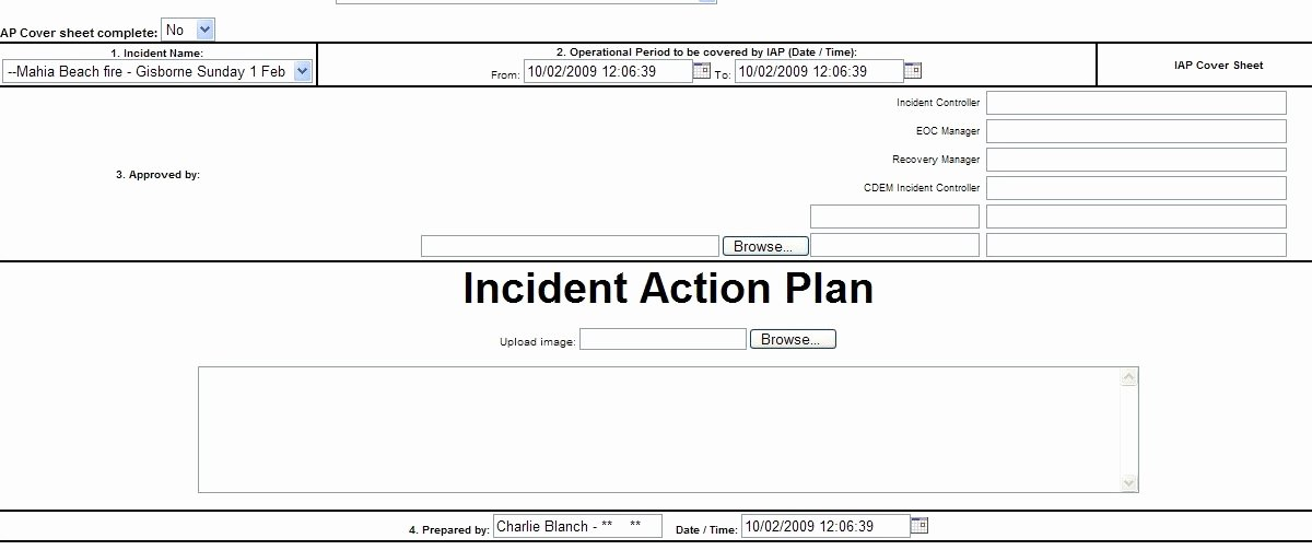 Incident Action Plan Example Luxury Nz Health Webeoc New Incident Action Plan Board