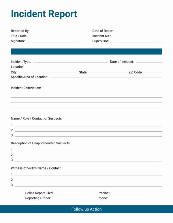 Incident Report Sample In Nursing Awesome 33 Incident Report format