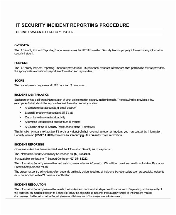 Incident Report Sample In Nursing Lovely Free 42 Incident Report Examples & Samples In Pdf Google Docs Pages Doc
