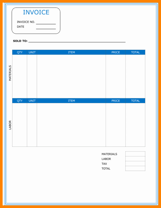 Independent Contractor Invoice Template Awesome 5 Independent Contractor Invoice Template Free