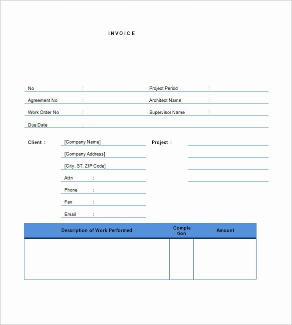 Independent Contractor Invoice Template Best Of Contractor Invoice Templates 10 Free Excel Word Pdf