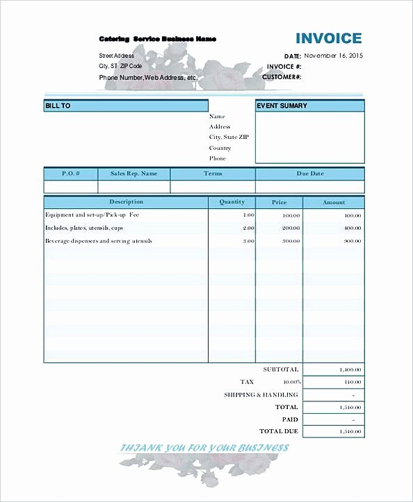 Independent Contractor Invoice Template Luxury Catering Bill Invoice Contractor Invoice Template Tips