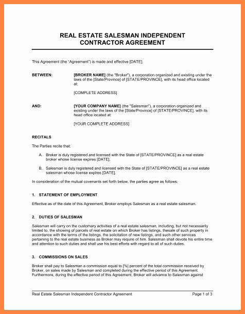 Independent Contractor Resignation Letter Inspirational 4 Simple Independent Contractor Agreement Template