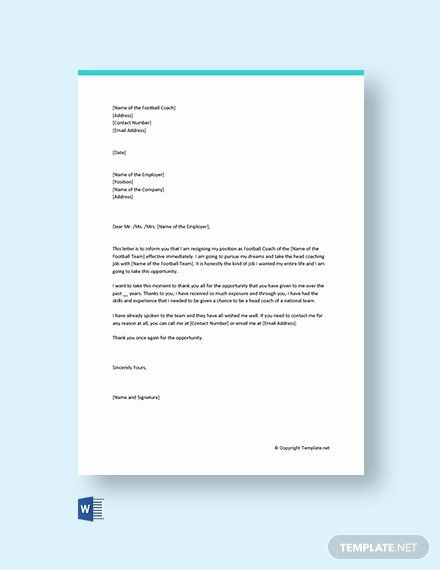 Independent Contractor Resignation Letter New 157 Free Resignation Letter Templates In Microsoft Word [download now In Cx]