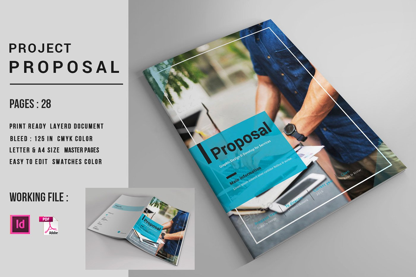 Indesign Business Plan Template Unique Indesign Business Proposal Template On Behance