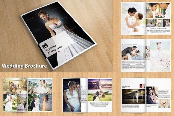 Indesign Wedding Program Template Awesome Indesign Wedding Brochure V114 Brochure Templates Creative Market