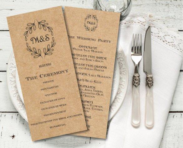 Indesign Wedding Program Template Beautiful 26 Wedding Ceremony Program Templates Psd Ai Indesign Pdf Doc