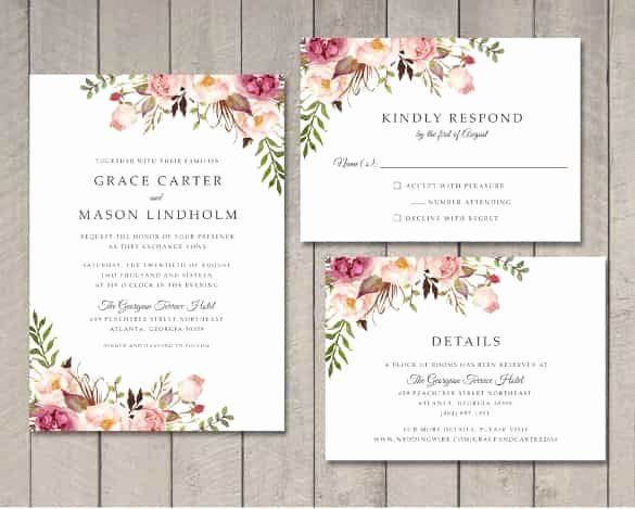 Indesign Wedding Program Template Best Of Wedding Invitation Template 71 Free Printable Word Pdf Psd Indesign format Download