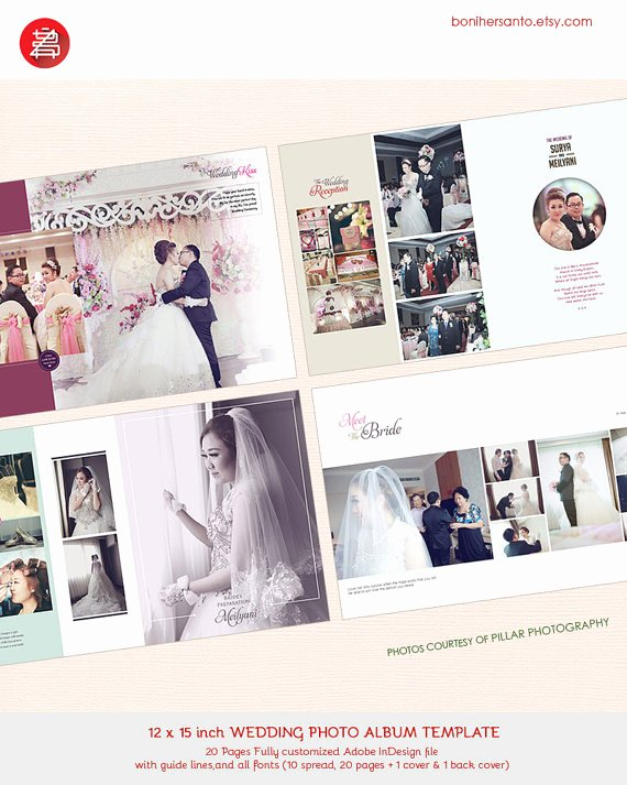 Indesign Wedding Program Template Elegant 20 Pages Wedding Album Design Template 12x15 Modern and Minimalist Style for Indesign