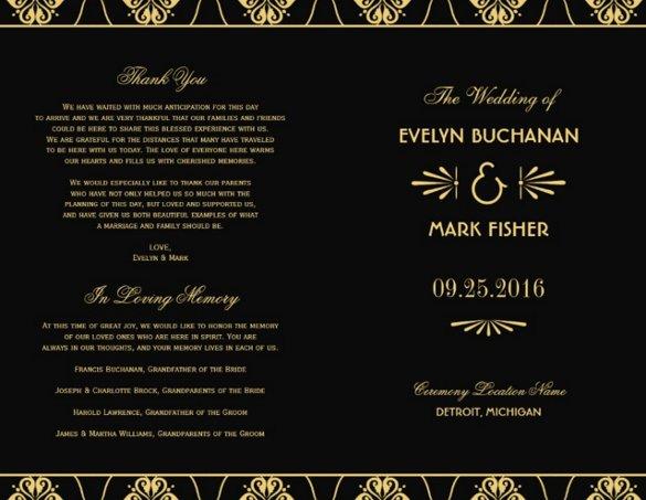 Indesign Wedding Program Template Inspirational 26 Wedding Ceremony Program Templates Psd Ai Indesign Pdf Doc