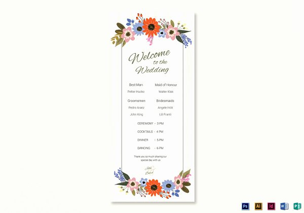 Indesign Wedding Program Template New 26 Wedding Ceremony Program Templates Psd Ai Indesign Pdf Doc