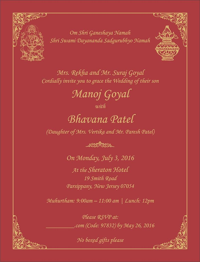 Indian Wedding Invitation Templates Awesome Wedding Invitation Wording for Hindu Wedding Ceremony