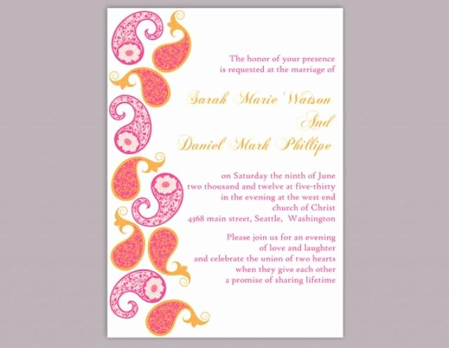 Indian Wedding Invitation Templates Elegant Diy Bollywood Wedding Invitation Template Editable Word