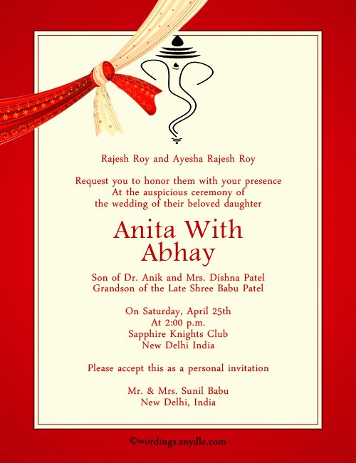Indian Wedding Invitation Templates Lovely Indian Wedding Invitation Wording Samples Wordings and